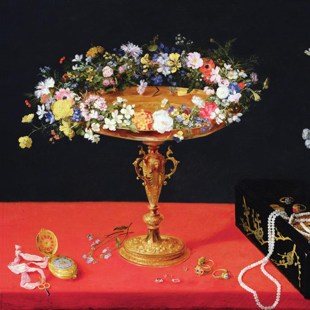 A Still Life of a Tazza with Flowers by Jan Brueghel the Younger.