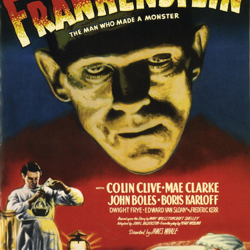 Frankenstein poster for the 1931 Universal film with Boris Karloff.
