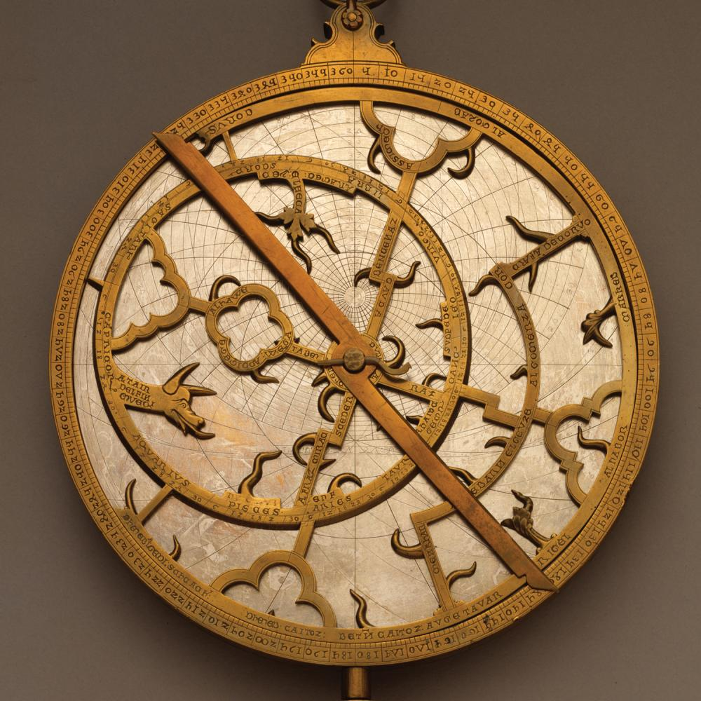 Gold and white astrolabe