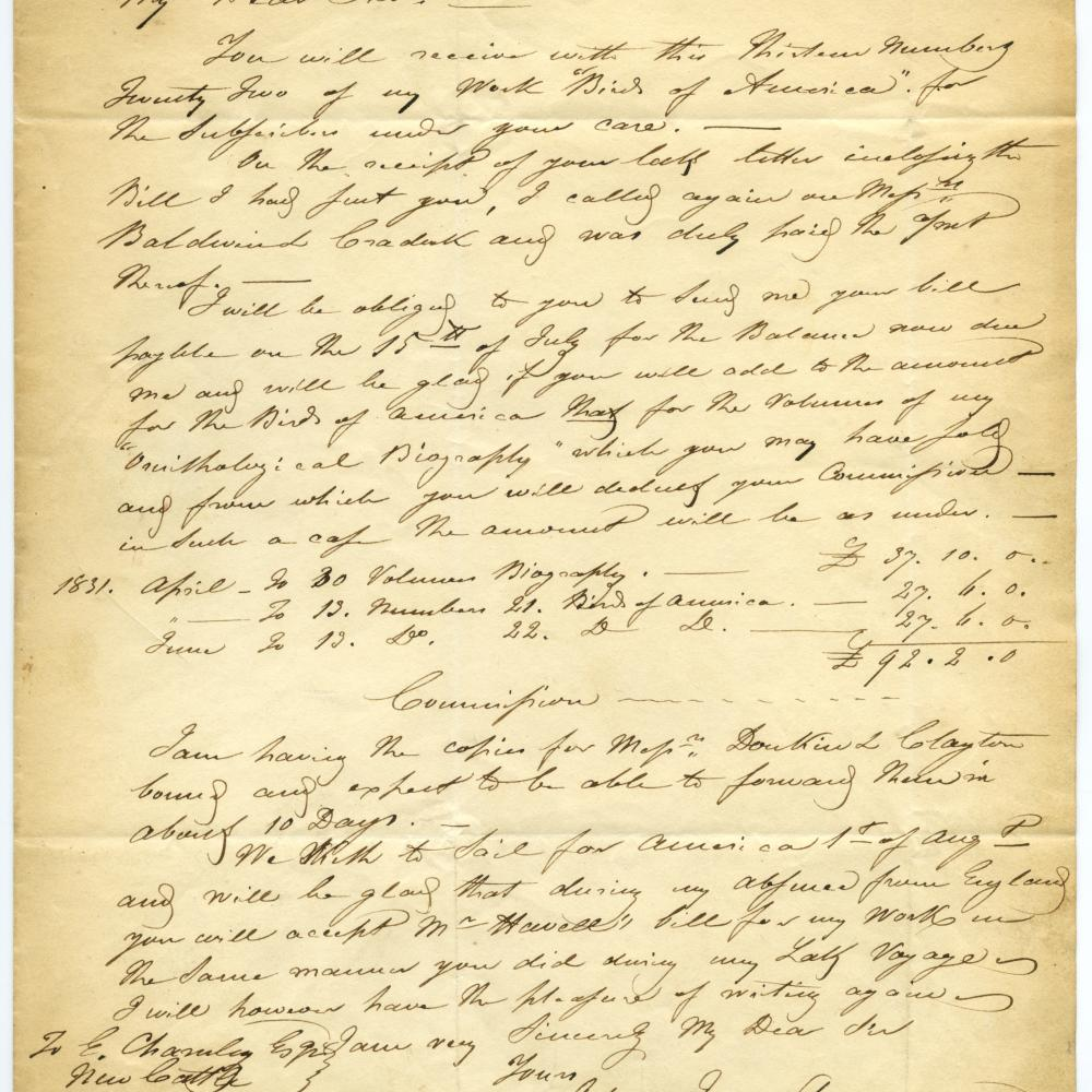 An old letter on yellowed paper, written by hand.