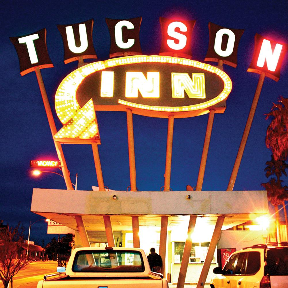 "Photograph of neon sign reading ""Tucson Inn"""