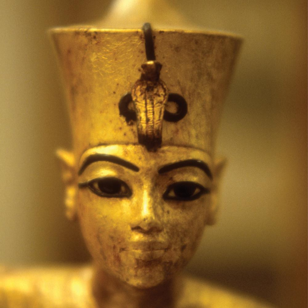 Golden statue of King Tut.
