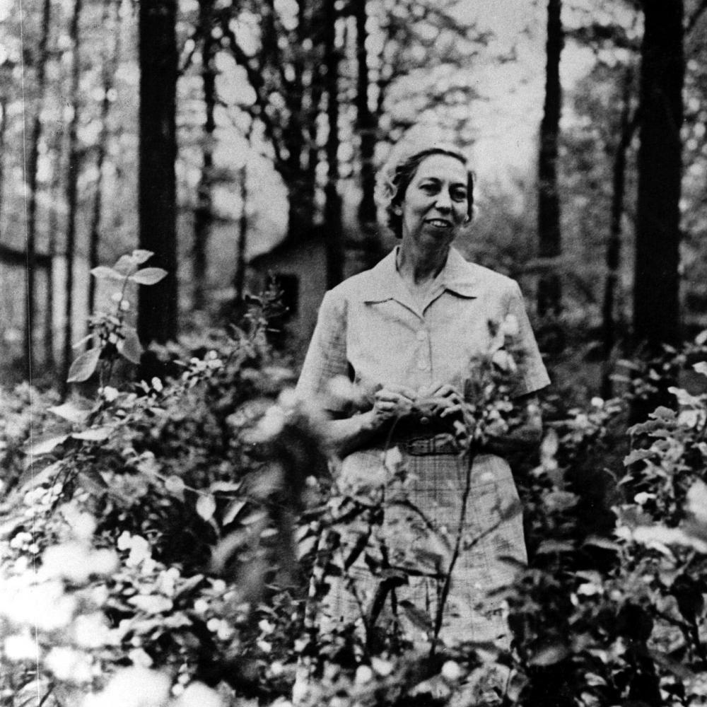 Eudora Welty in her garden