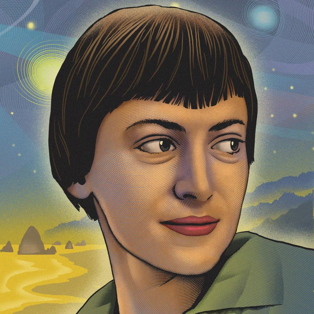 Illustration of Ursula K. Le Guin