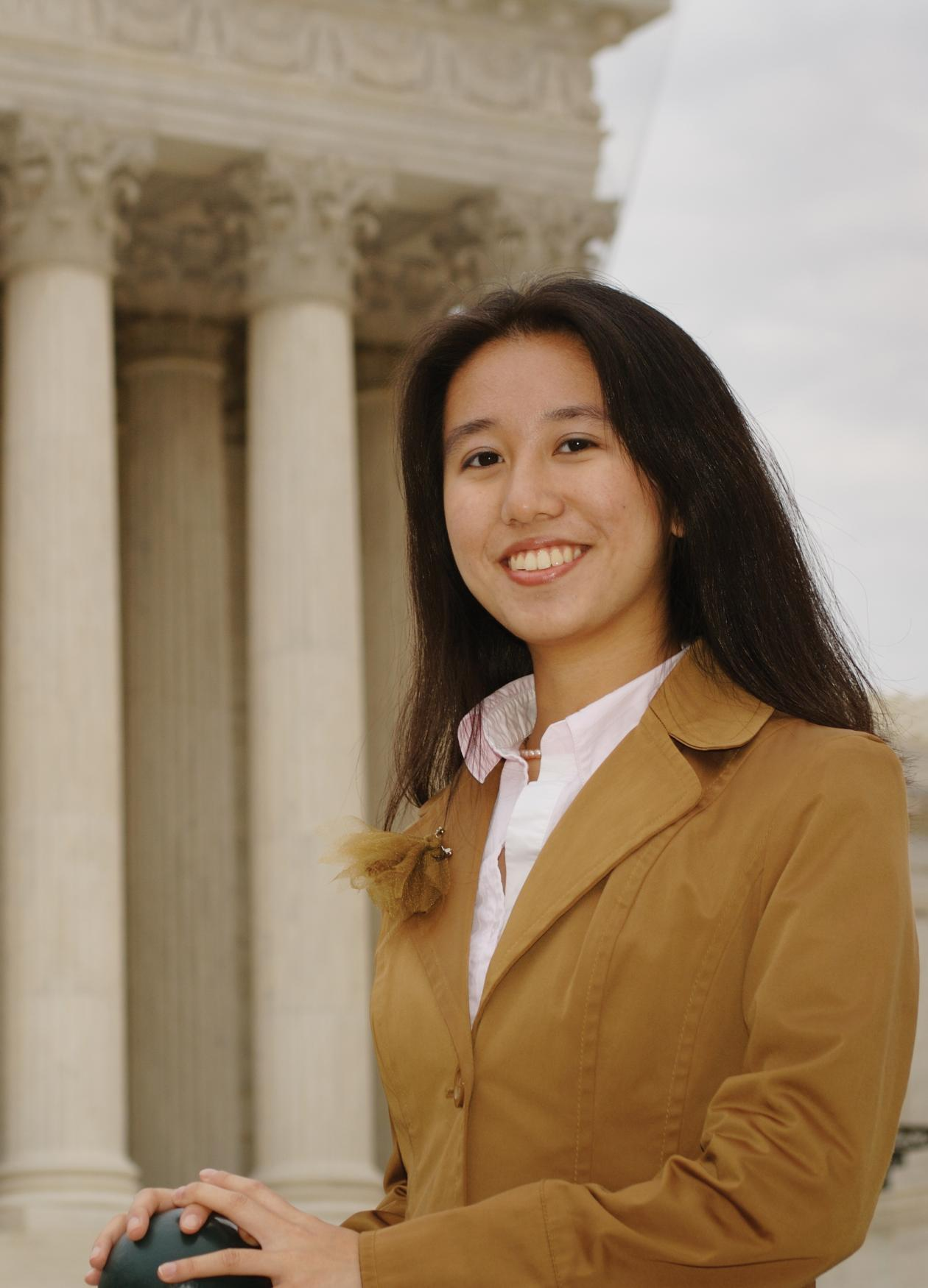 My Hobby English Essay Image Of Young Woman In Front Of Supreme Court Building Narrative Essay Topics For High School Students also Sample Essay High School Building The Bill Of Rights  National Endowment For The Humanities  Teaching Essay Writing High School