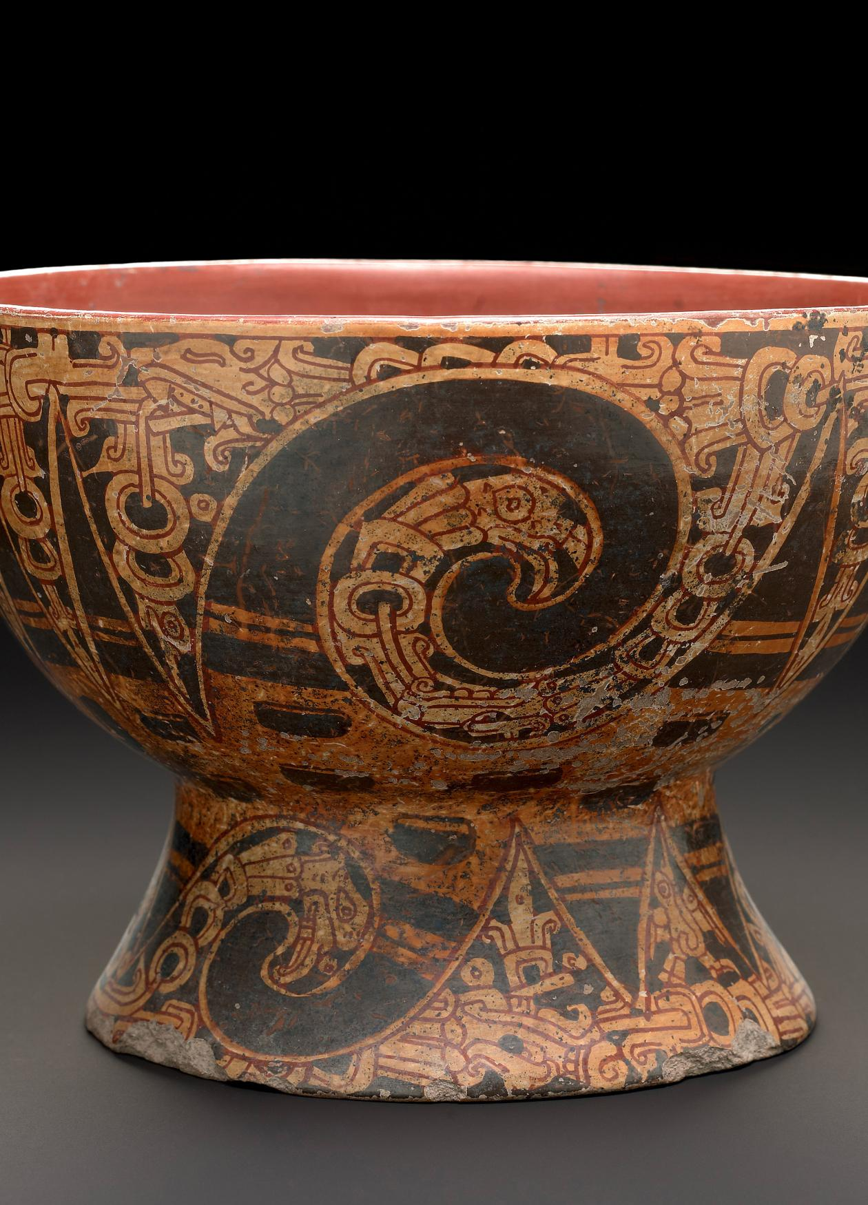 Photo of a Mexican ceremonial goblet from the age of the Aztecs.