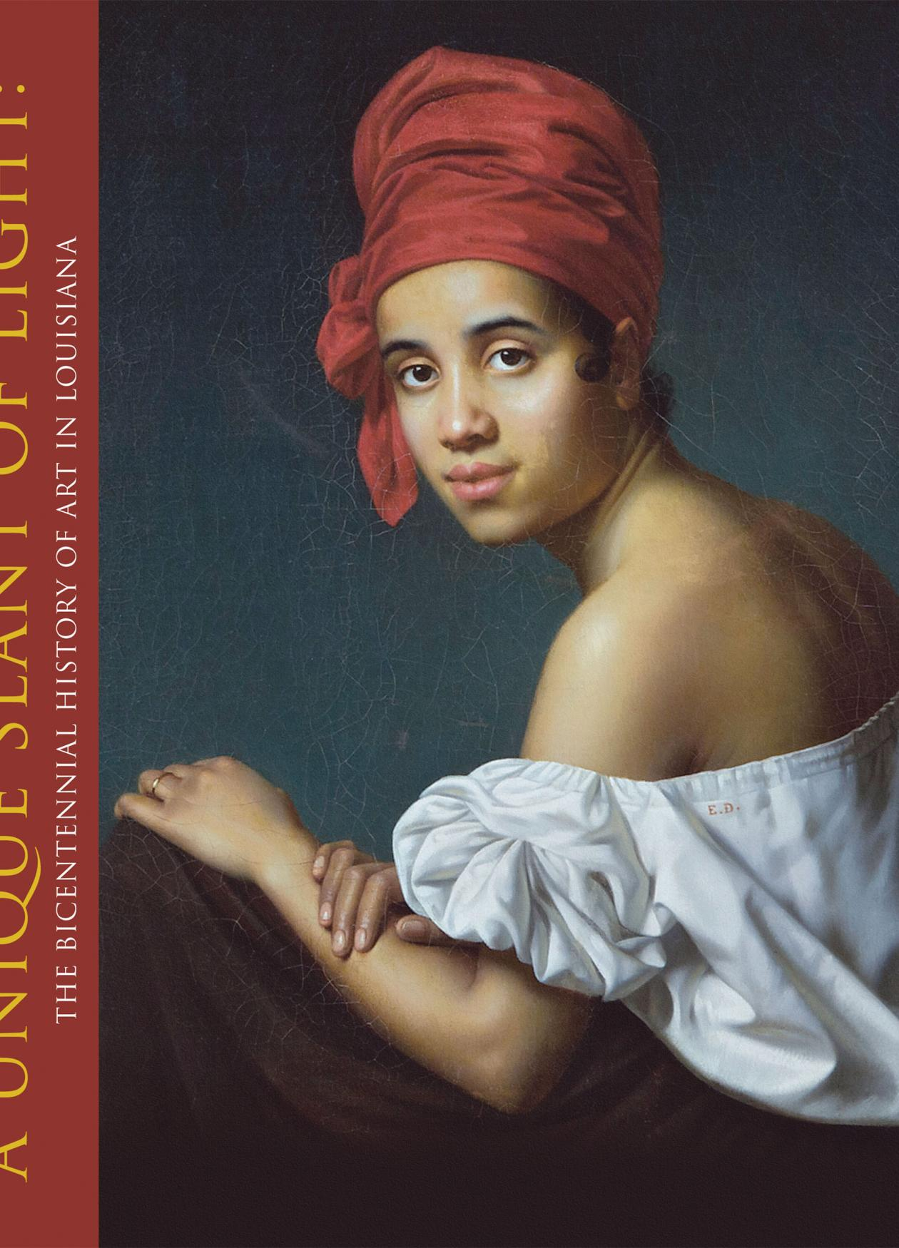Image of a book cover depicting a creole female in a red headdress and white blouse.
