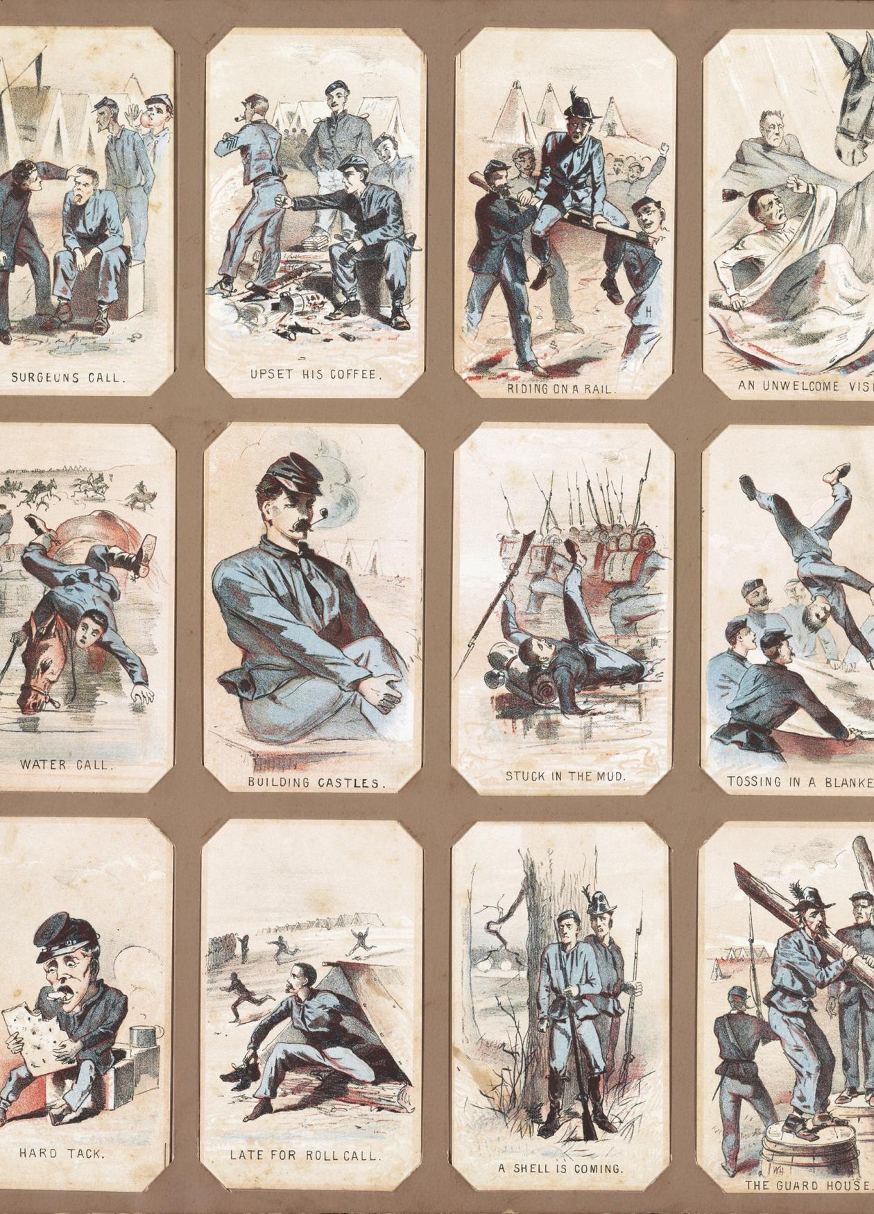 series of souvenir cards