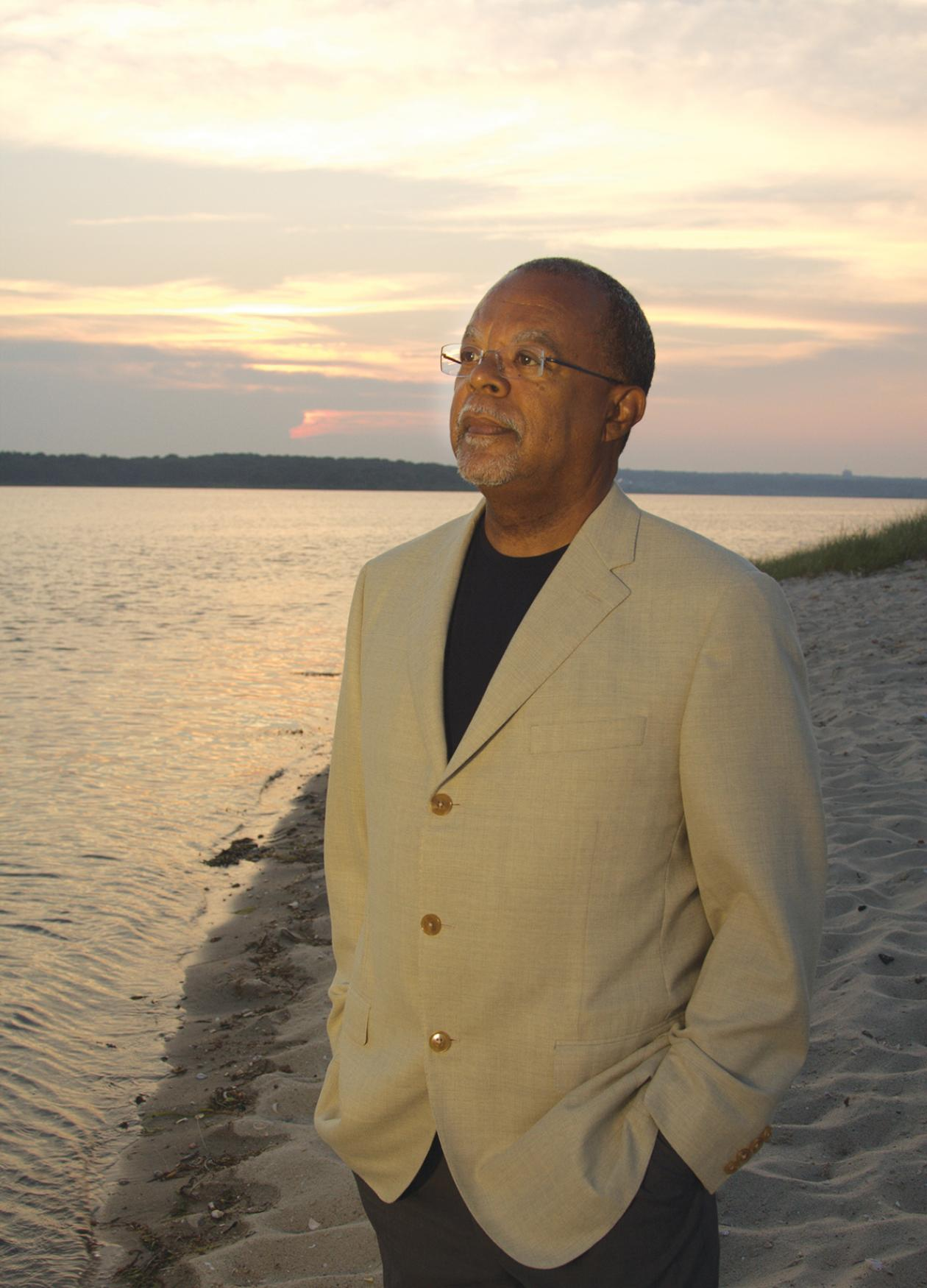 Photograph of Henry Louis Gates Jr. on a beach