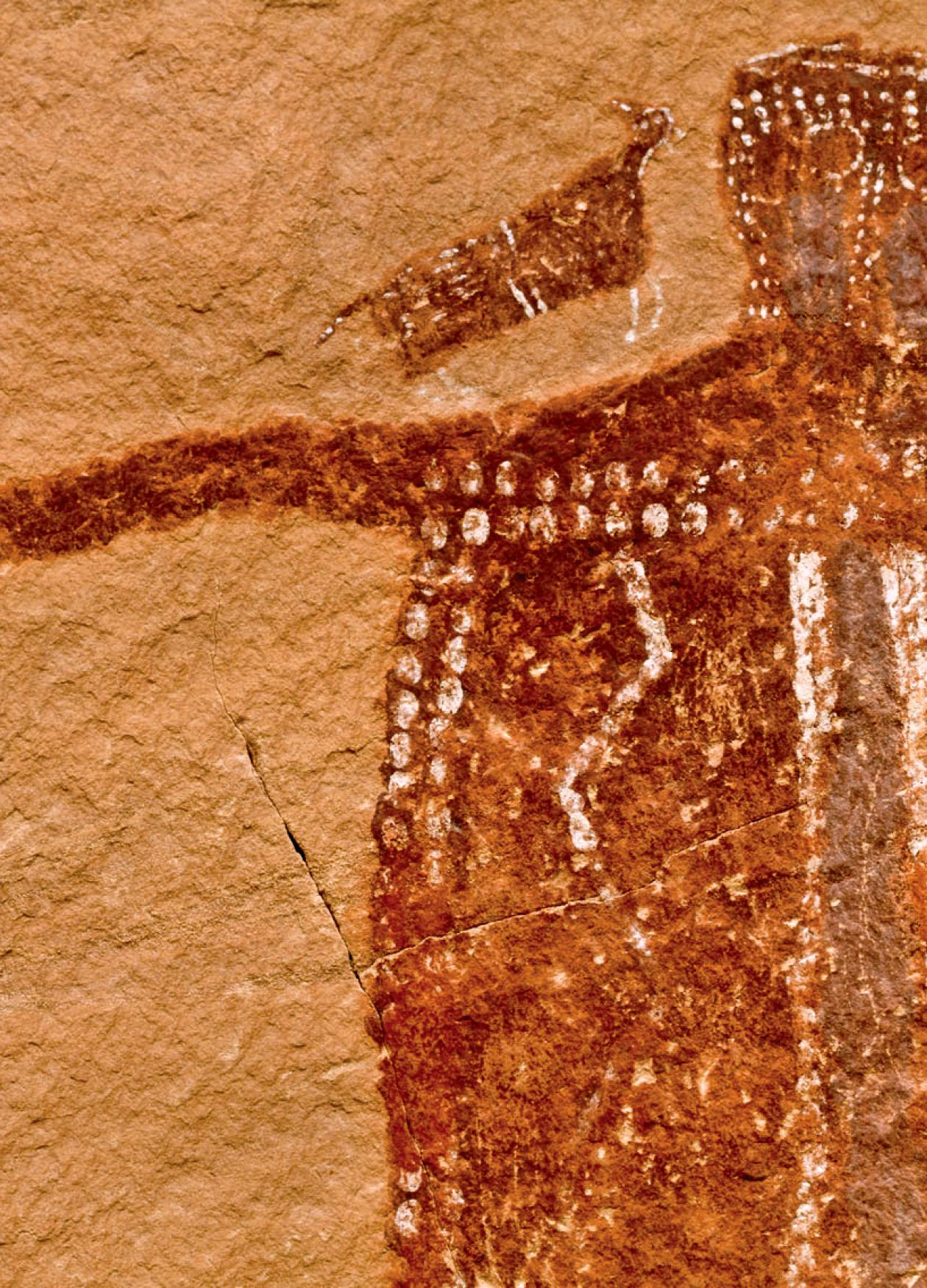 photograph of a cave painting