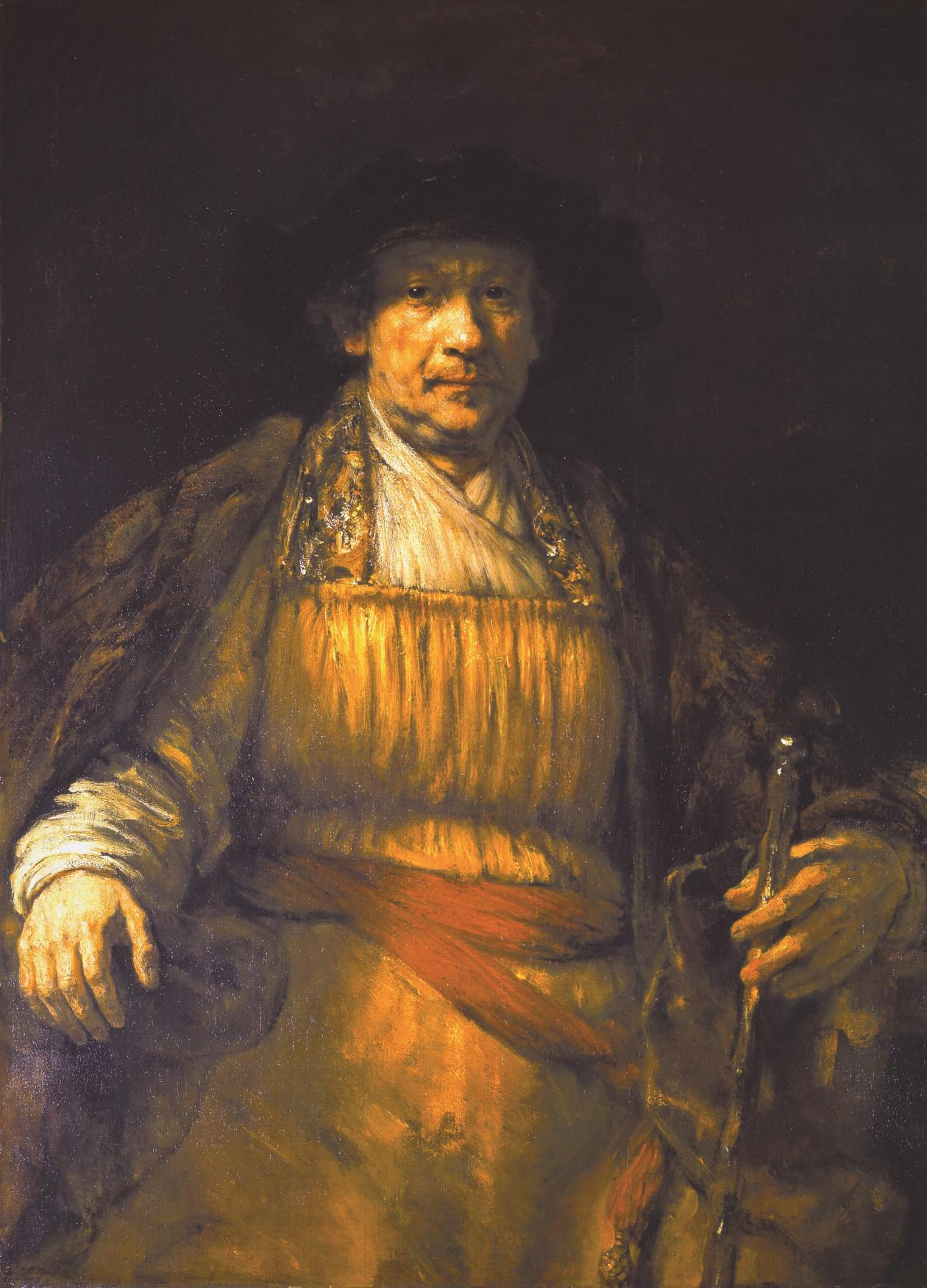 Oil self portrait of Rembrandt