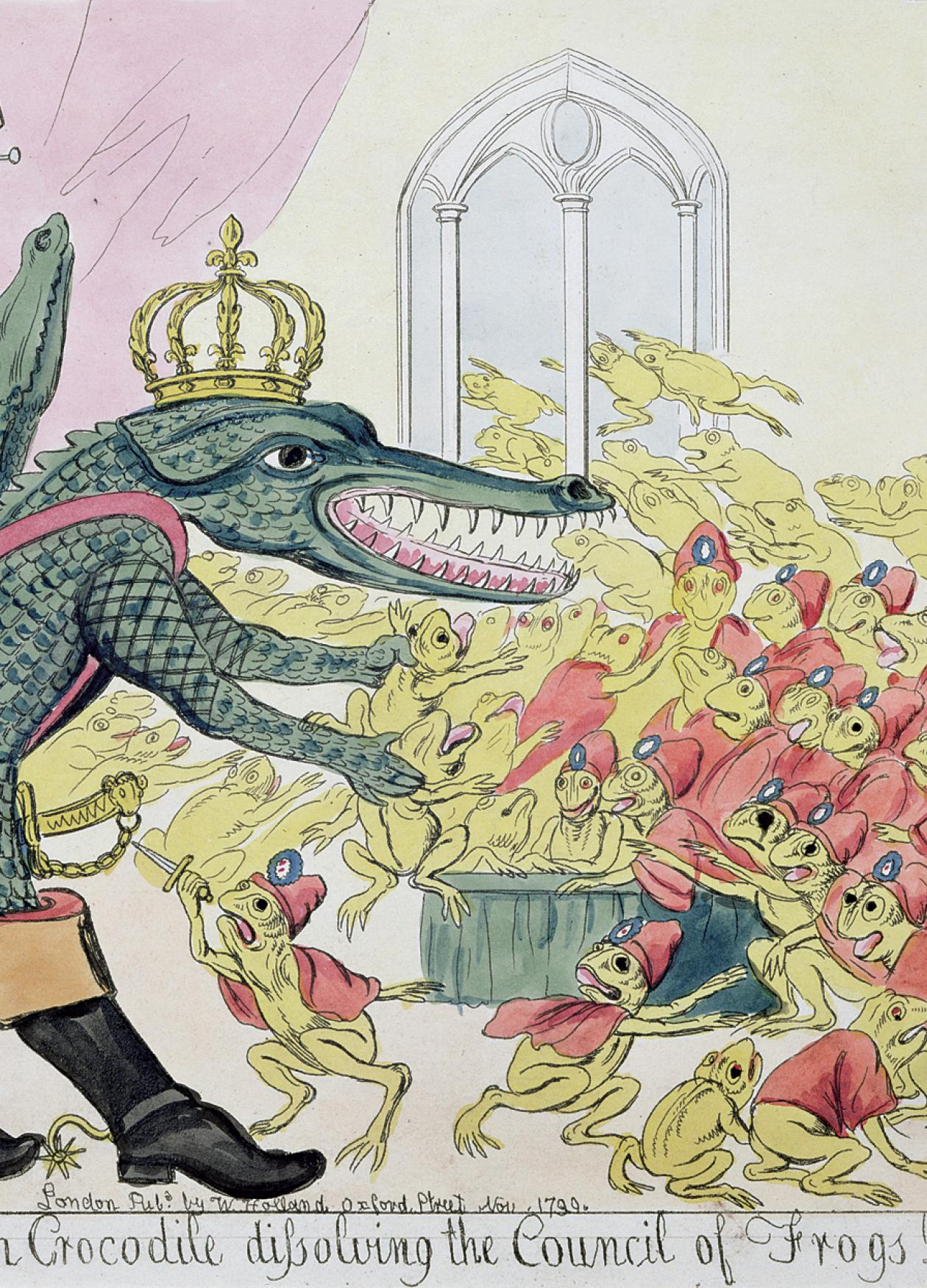 Cartoon of Napoleon as crocodile