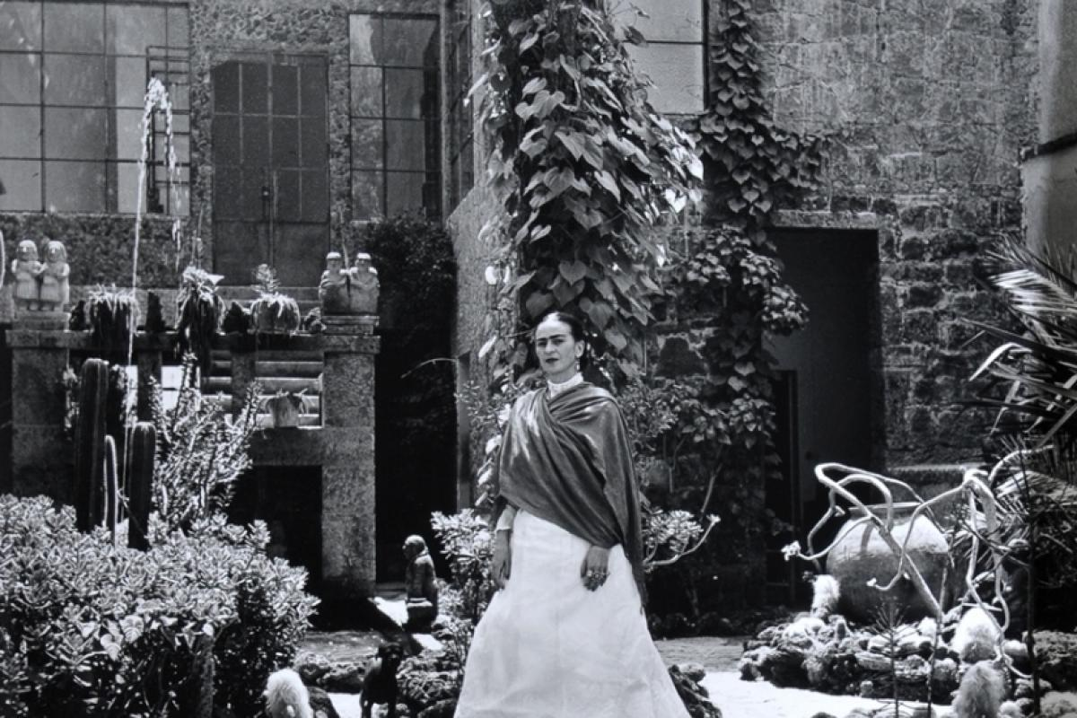 Gisèle Freund, Frida in the Garden, Casa Azul, ca.  1951. From the exhibition FR