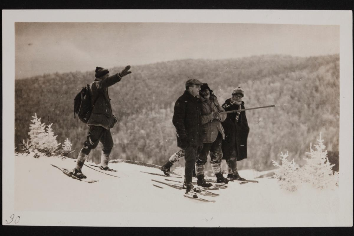 Snowshoers on Cherry Mountain