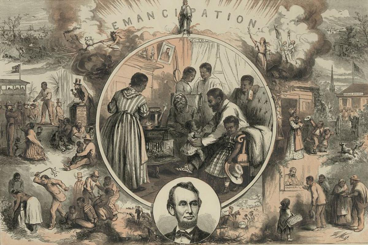 Harper's Weekly illustration of benefits of emancipation