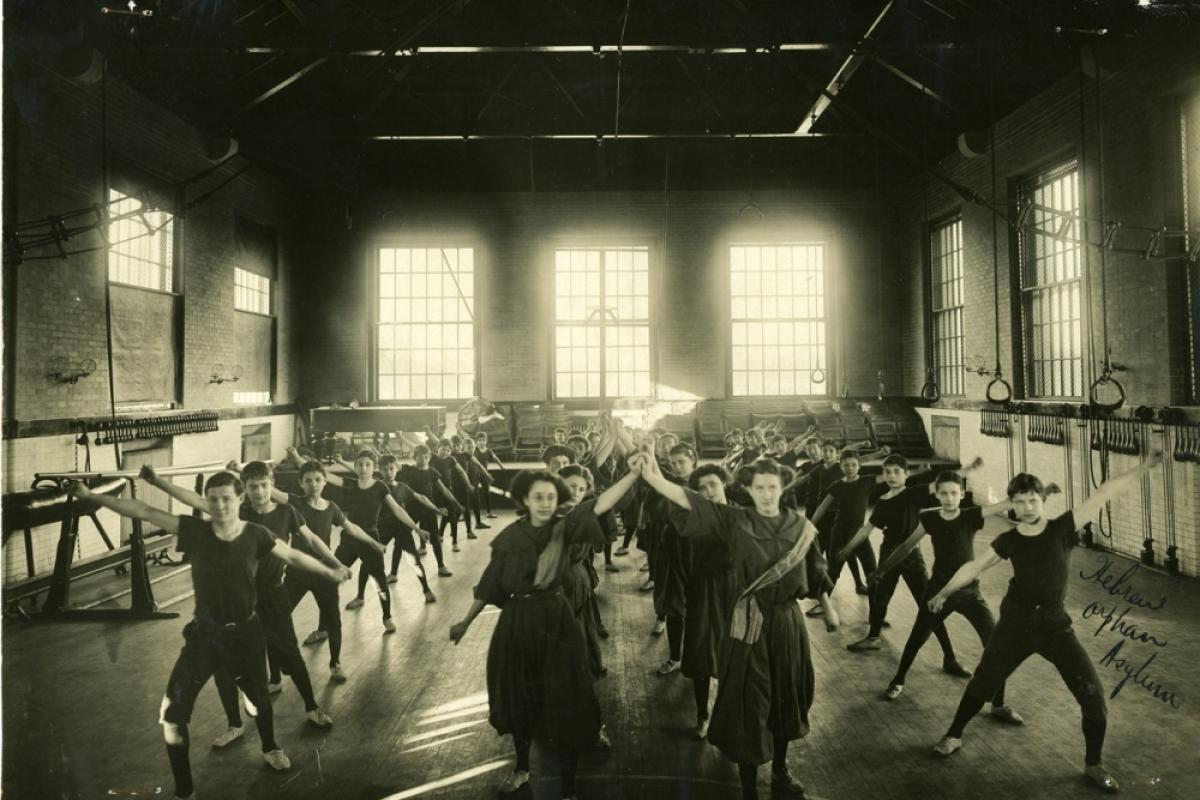 Synchronized exercise performance at the Hebrew Orphan Asylum, Baltimore