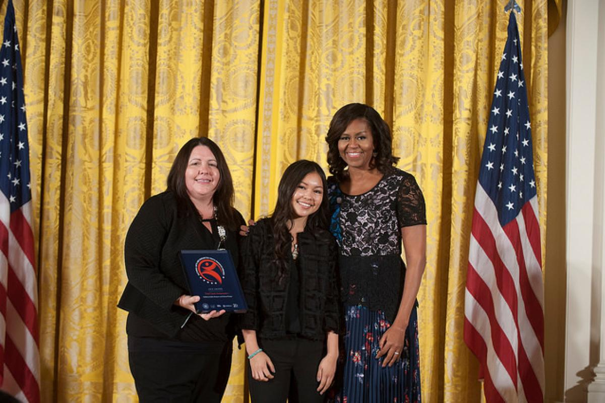 First Lady Honors Tribal Youth Ambassadors Program