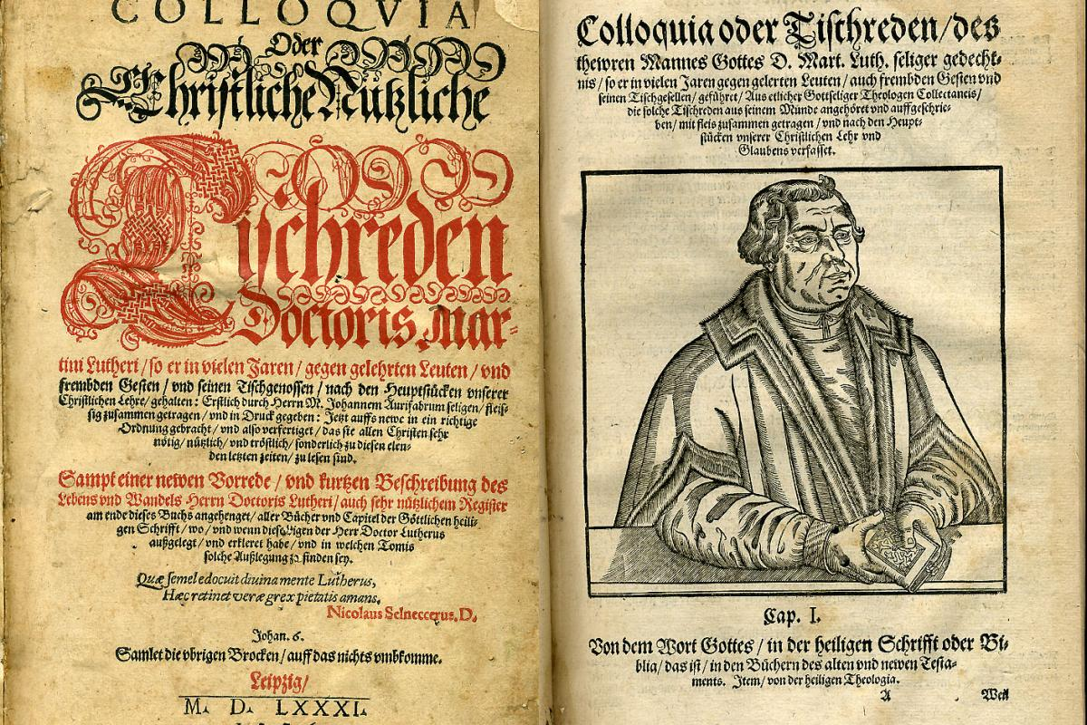 Two pages of antique text by Martin Luther