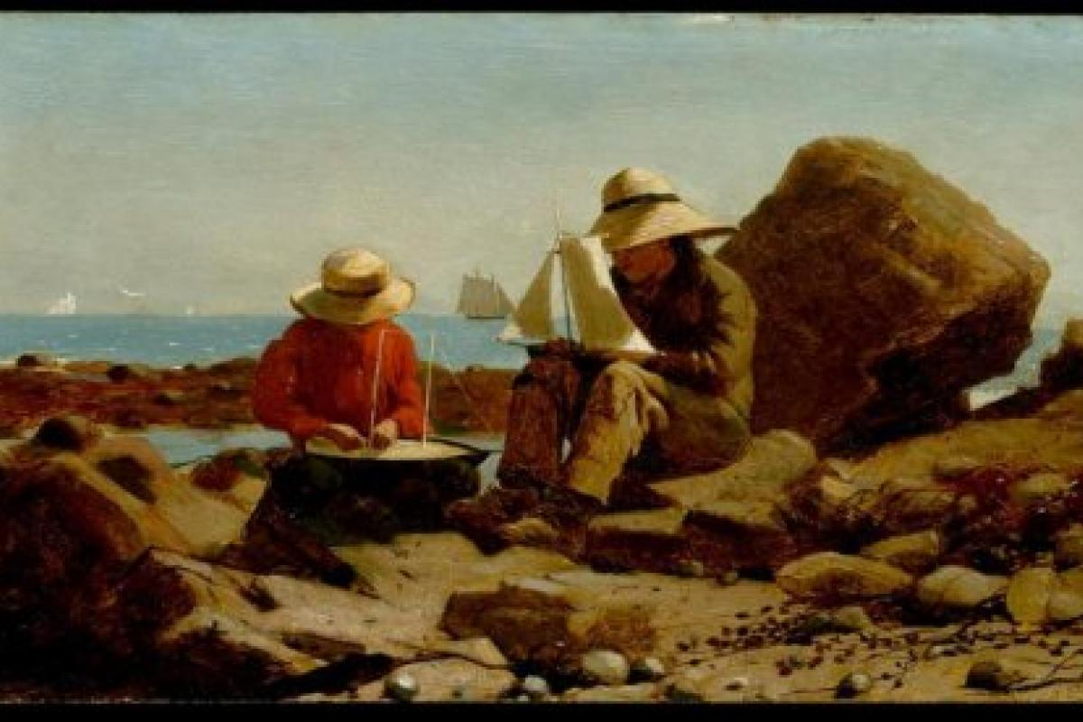 "Picture of Homer Winslow's ""The Boat Builders,"" 1873."