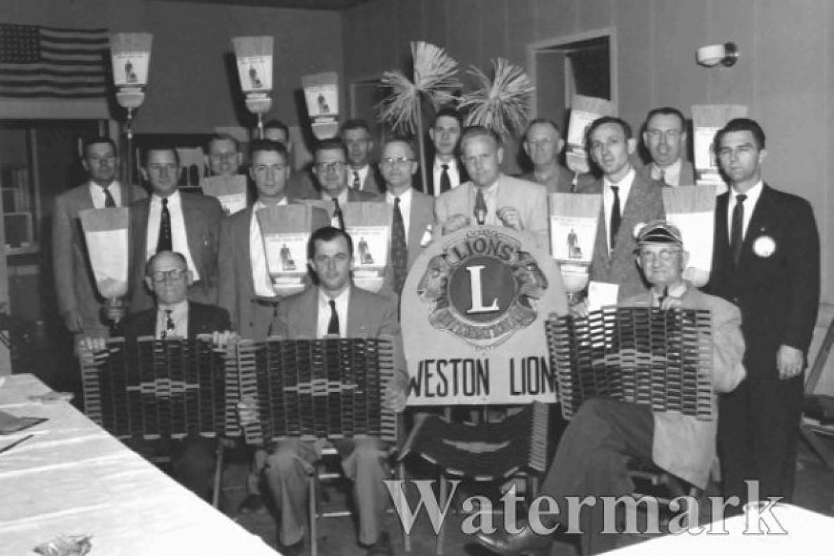 Men of the Weston Lions Club