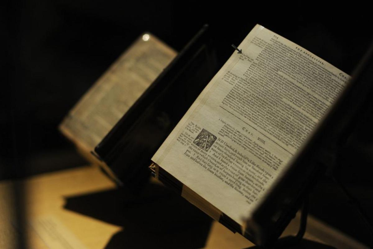 King James Bibles from the Manifold Greatness exhibition