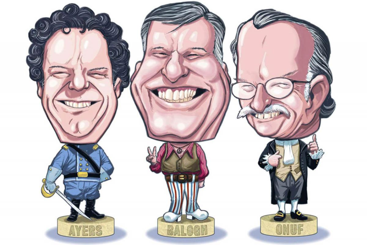 BackStory with the American History Guys bobblehead caricatures