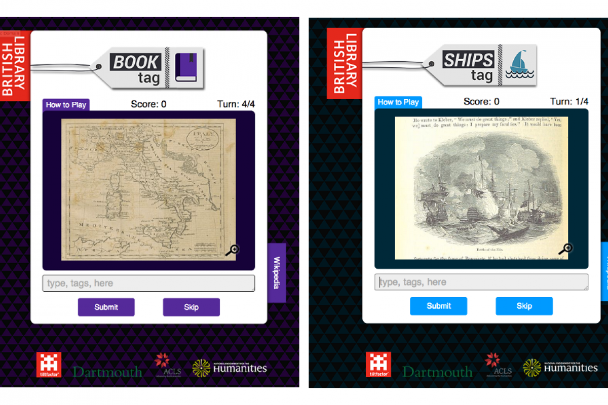 British Library collections available for tagging in Metadata Games