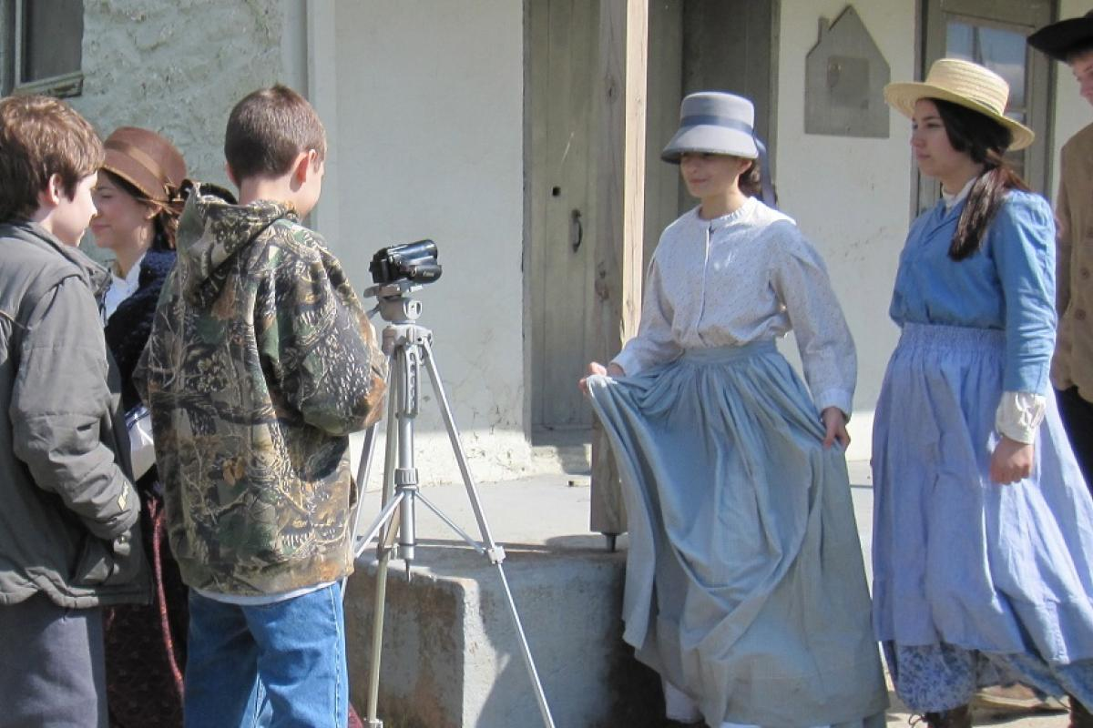 Student filmmakers learn about the Civil War at the C & O Canal