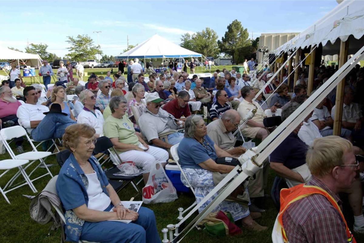 Overflow crowd at Colorado Humanities' High Plains Chautauqua