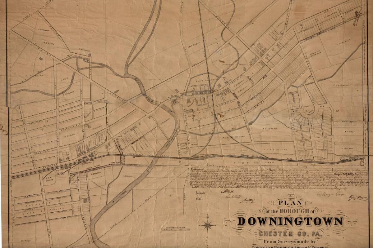 1871 plan of the borough of Downingtown