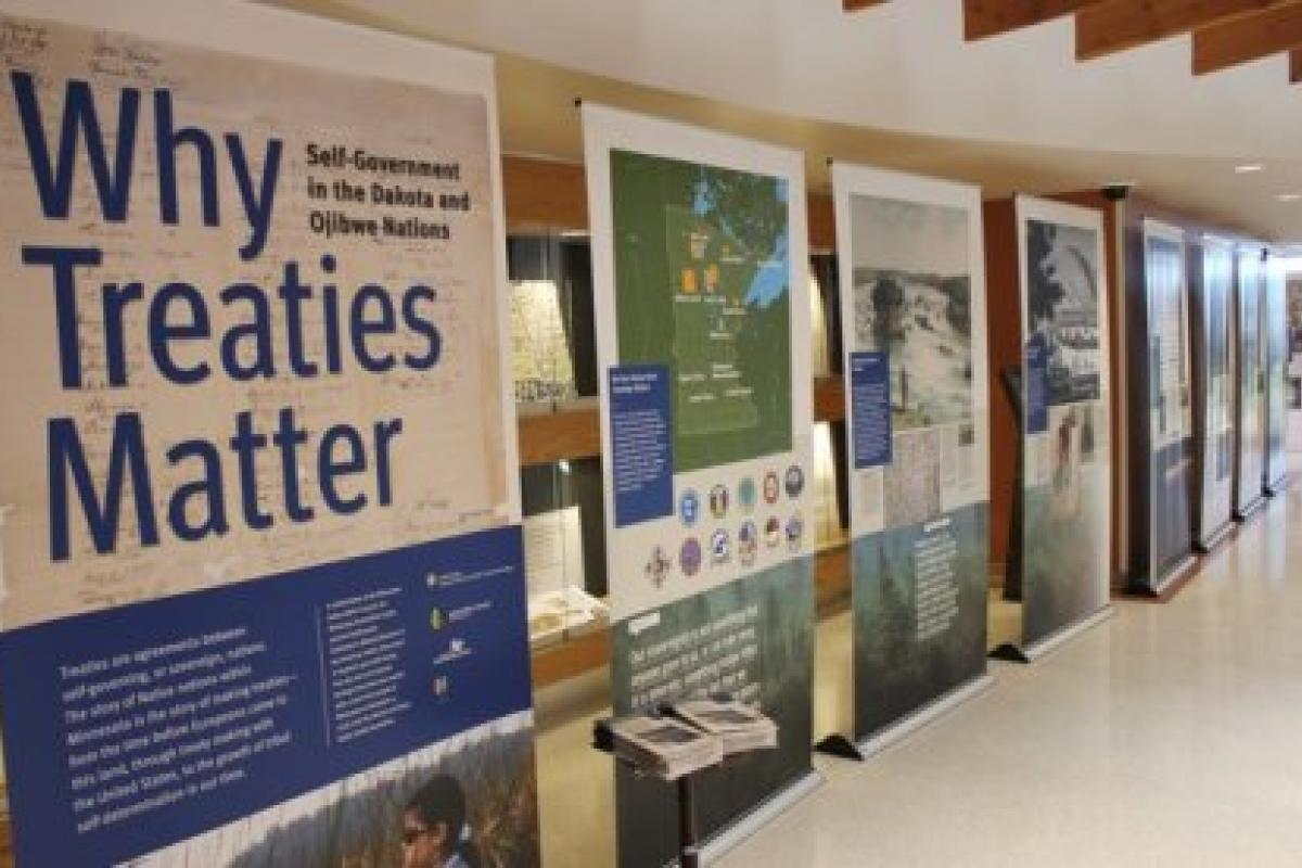 Exhibit at White Earth Tribal Headquarters