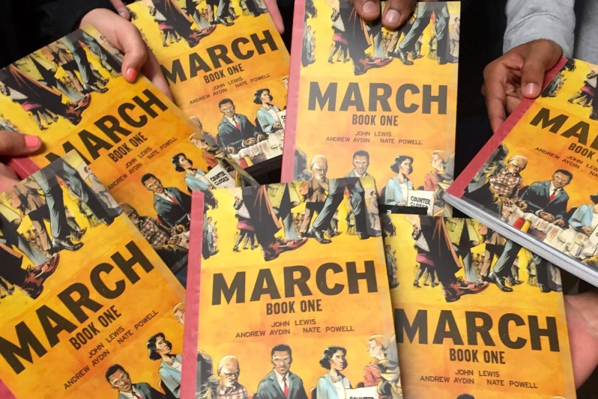 March, a graphic novel by Congress John Lewis, Andrew Aydin, and Nate Powell