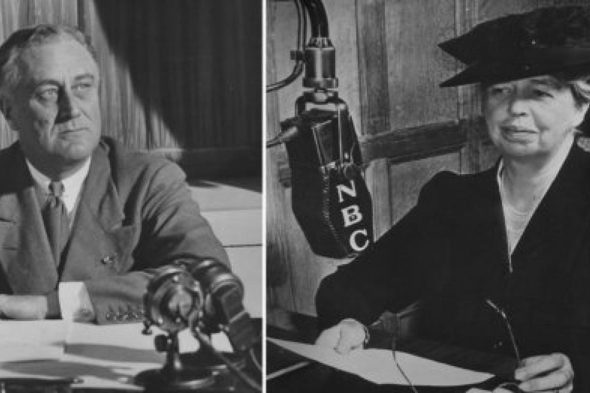 FDR and Eleanor Roosevelt on radio