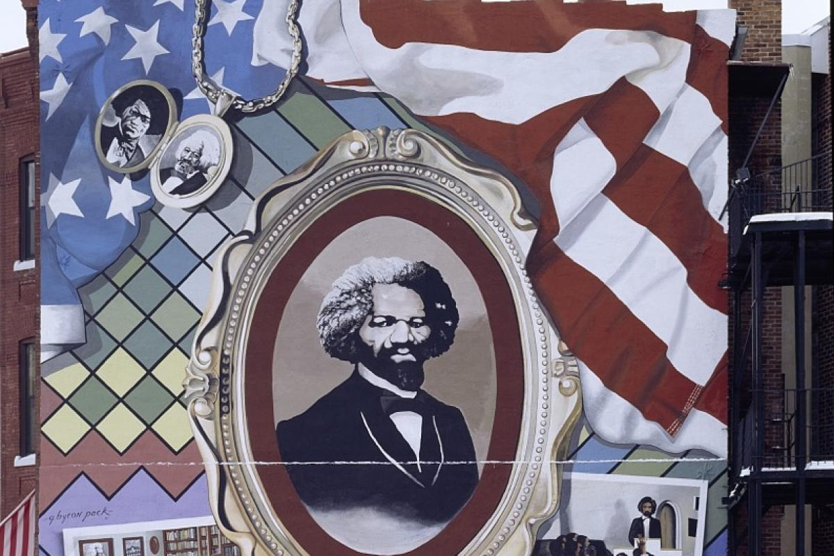 Frederick Douglass mural, Washington, DC