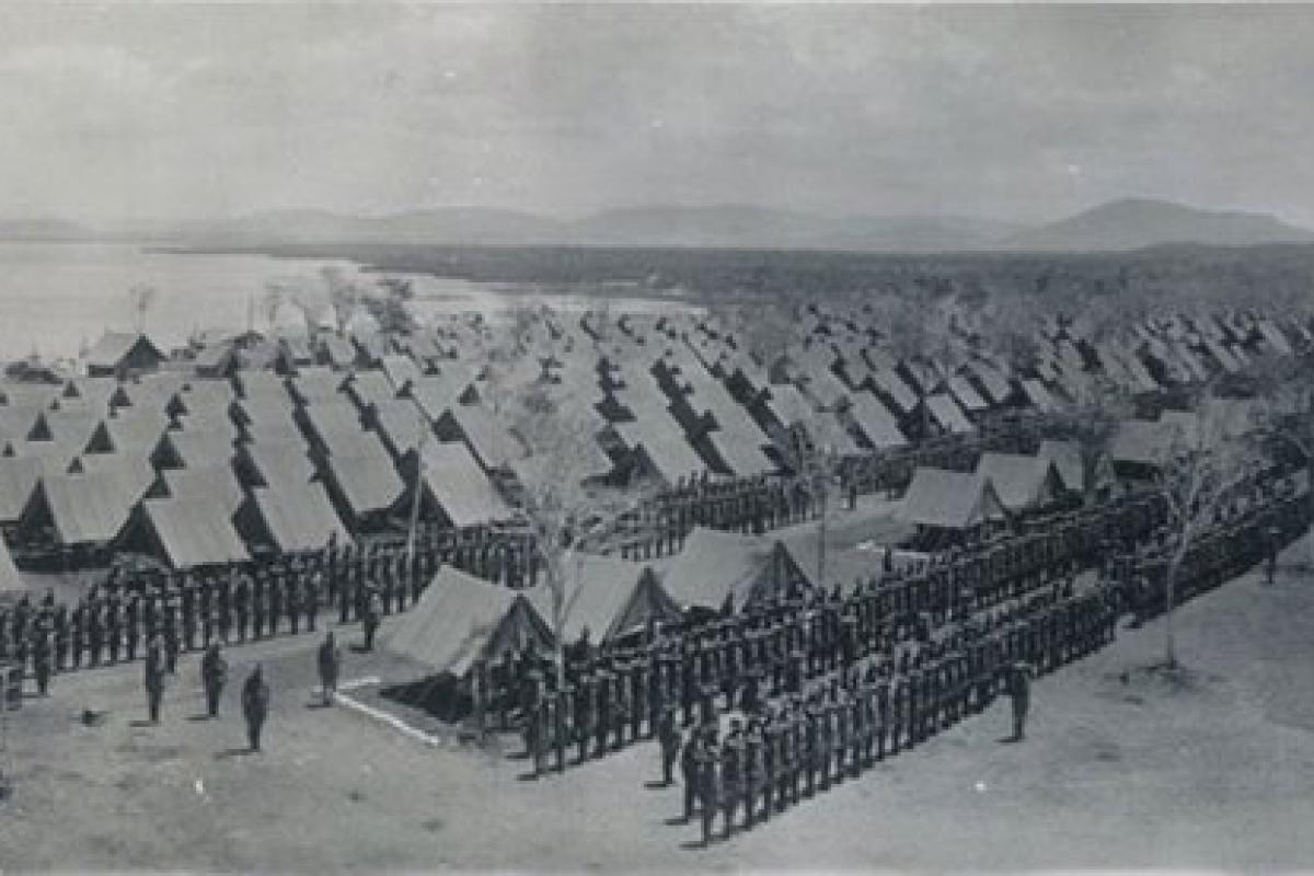 Military encampment at Guantanamo Bay, Cuba; Spanish-American War era