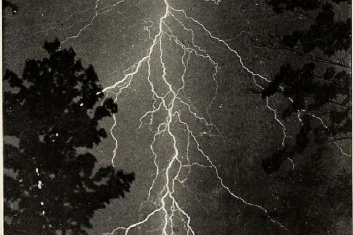 A photograph of lighting by A. M. MacFarland, entitled St. Nicholas