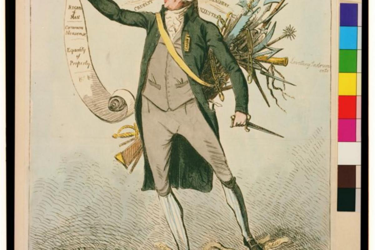 a British cartoon of Thomas Paine