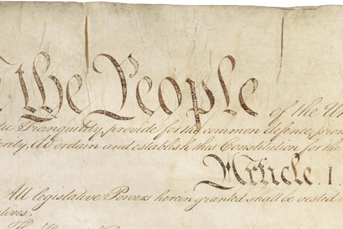 """We the People"" US Constitution section"