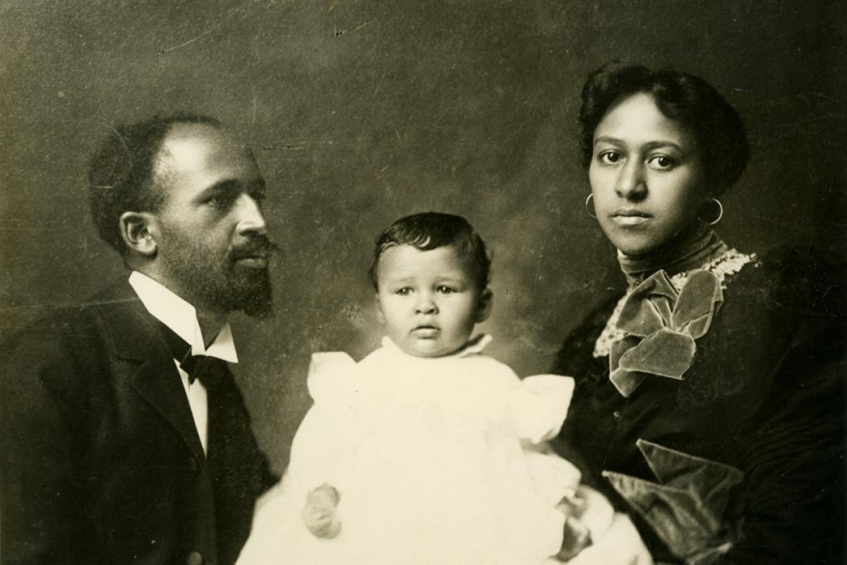 W. E. B. Du Bois and his family posing for a picture