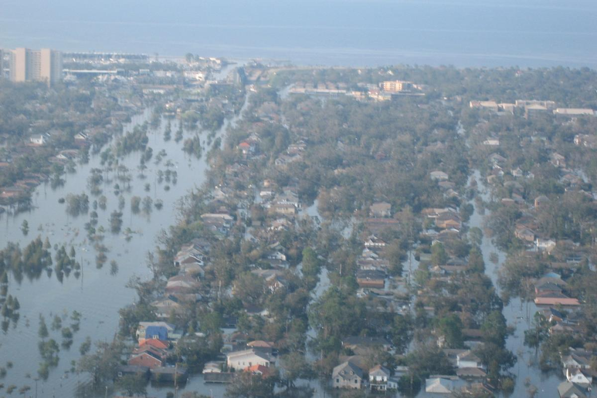 Flooding in New Orleans after Hurricane Katrina