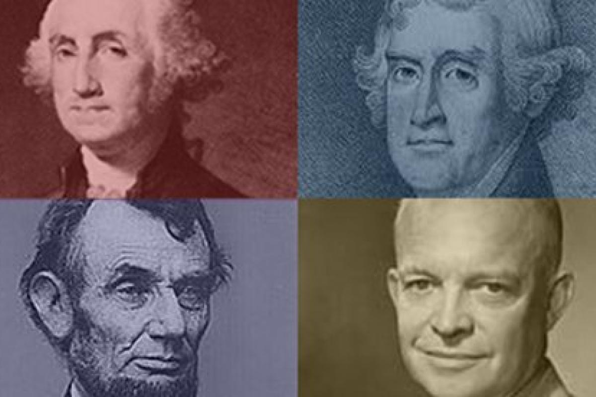 Image of Washington, Jefferson, Lincoln, and Eisenhower