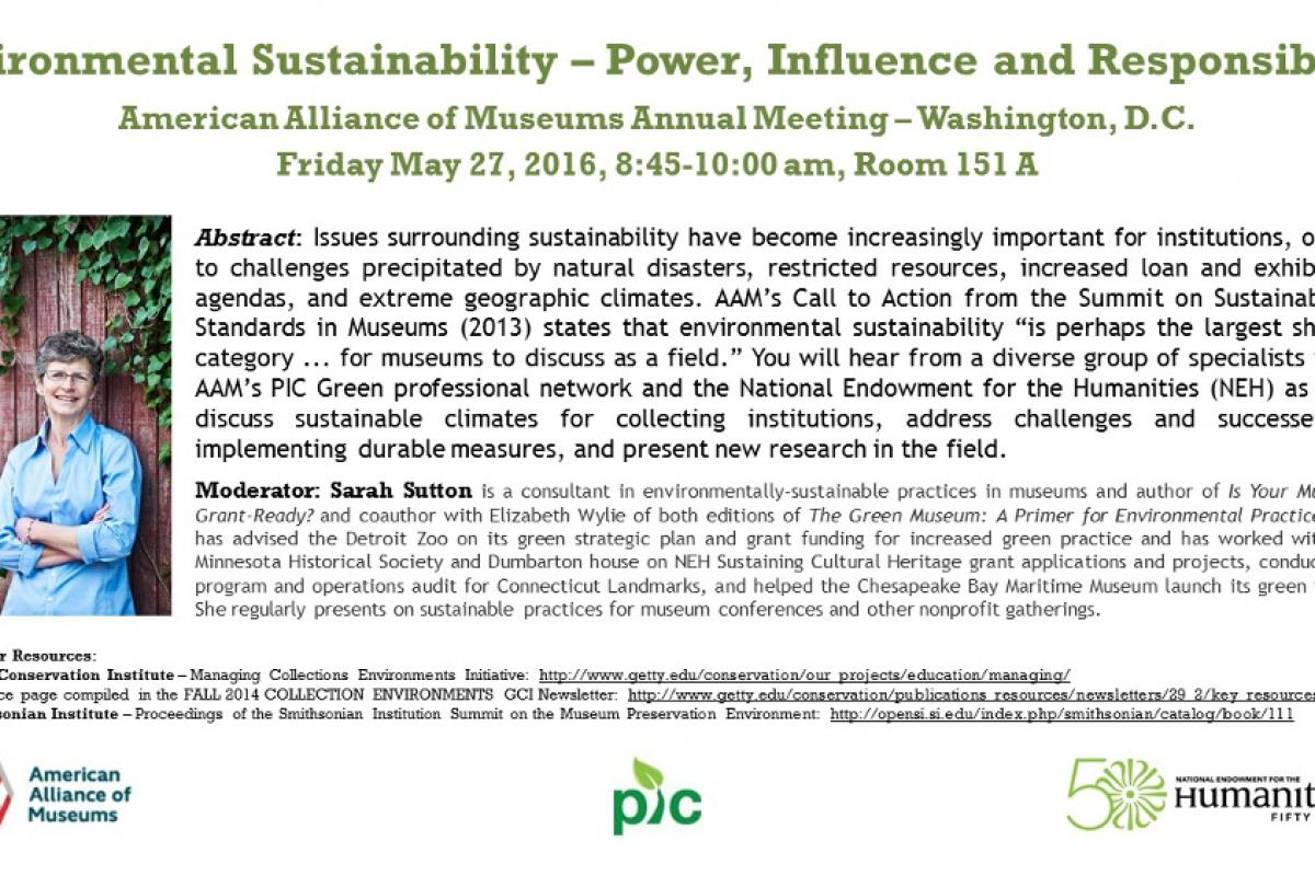 Session Announcement for Environmental Sustainability