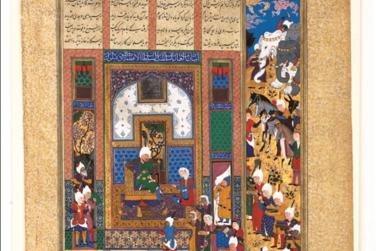 a 16th century image of a gift being given to a sultan