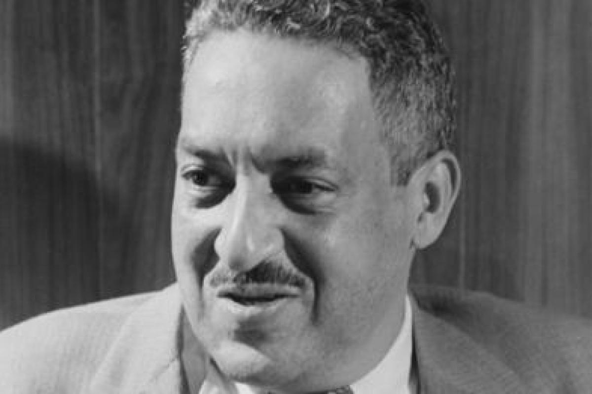 Black and white photograph of Thurgood Marshall
