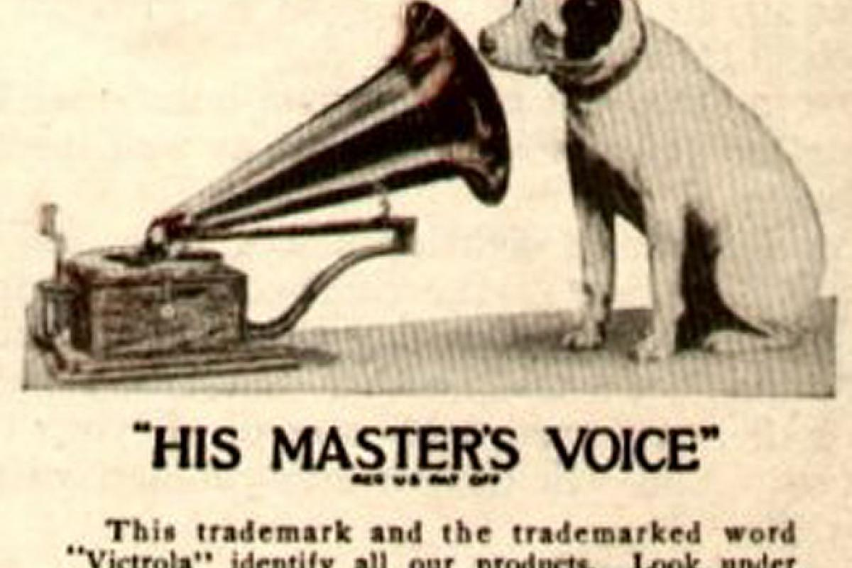 The logo of the Victor Talking Machine Company