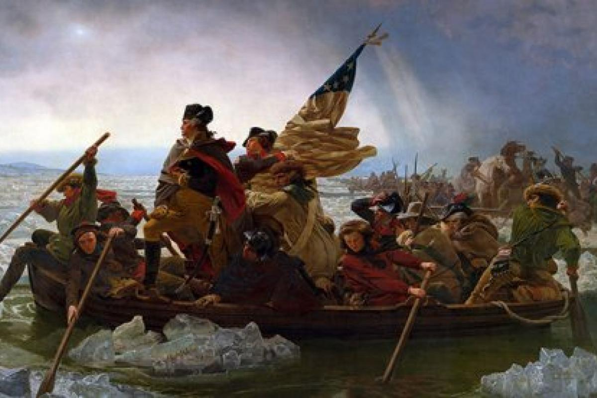 Leutze painting of Washington crossing the Delaware