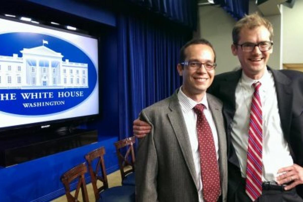 Photo of White House Champions of Change, Eric Kansa and Will Noel