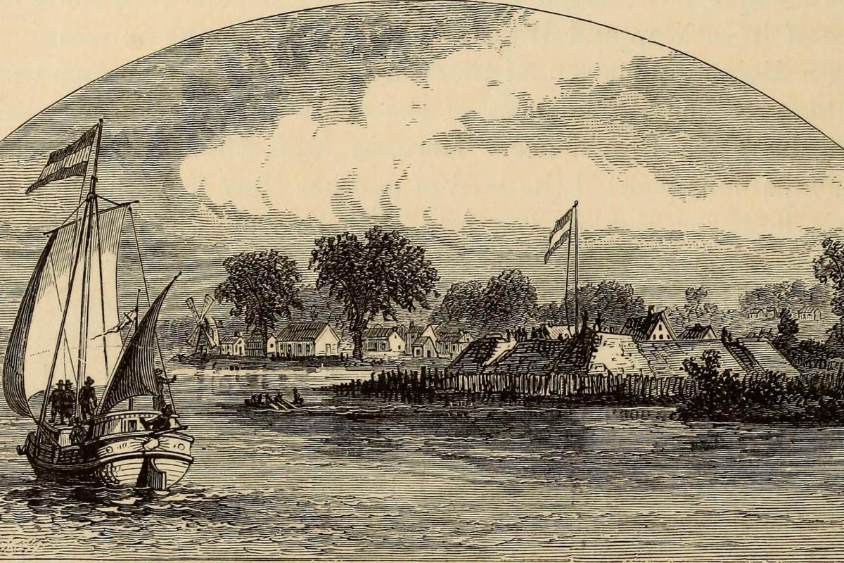 Engraving of coastline off Plimouth