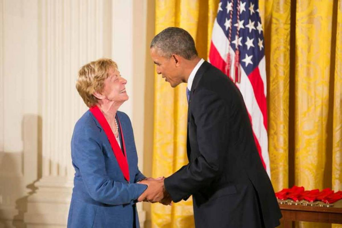 Jill Ker Conway and President Obama, National Humanities Medals, July 10, 2013