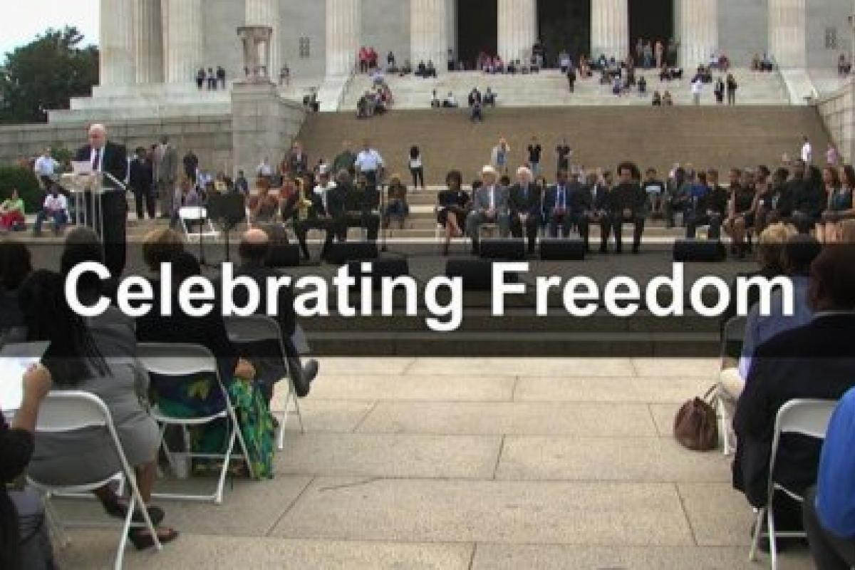 Celebrating Freedom at the Lincoln Memorial